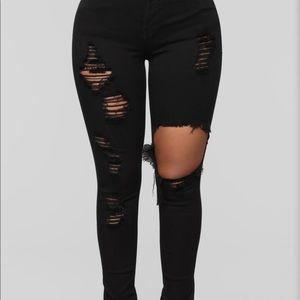 black fashion nova jeans